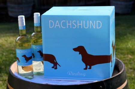 Dachshund Riesling Case with 2 Bottles