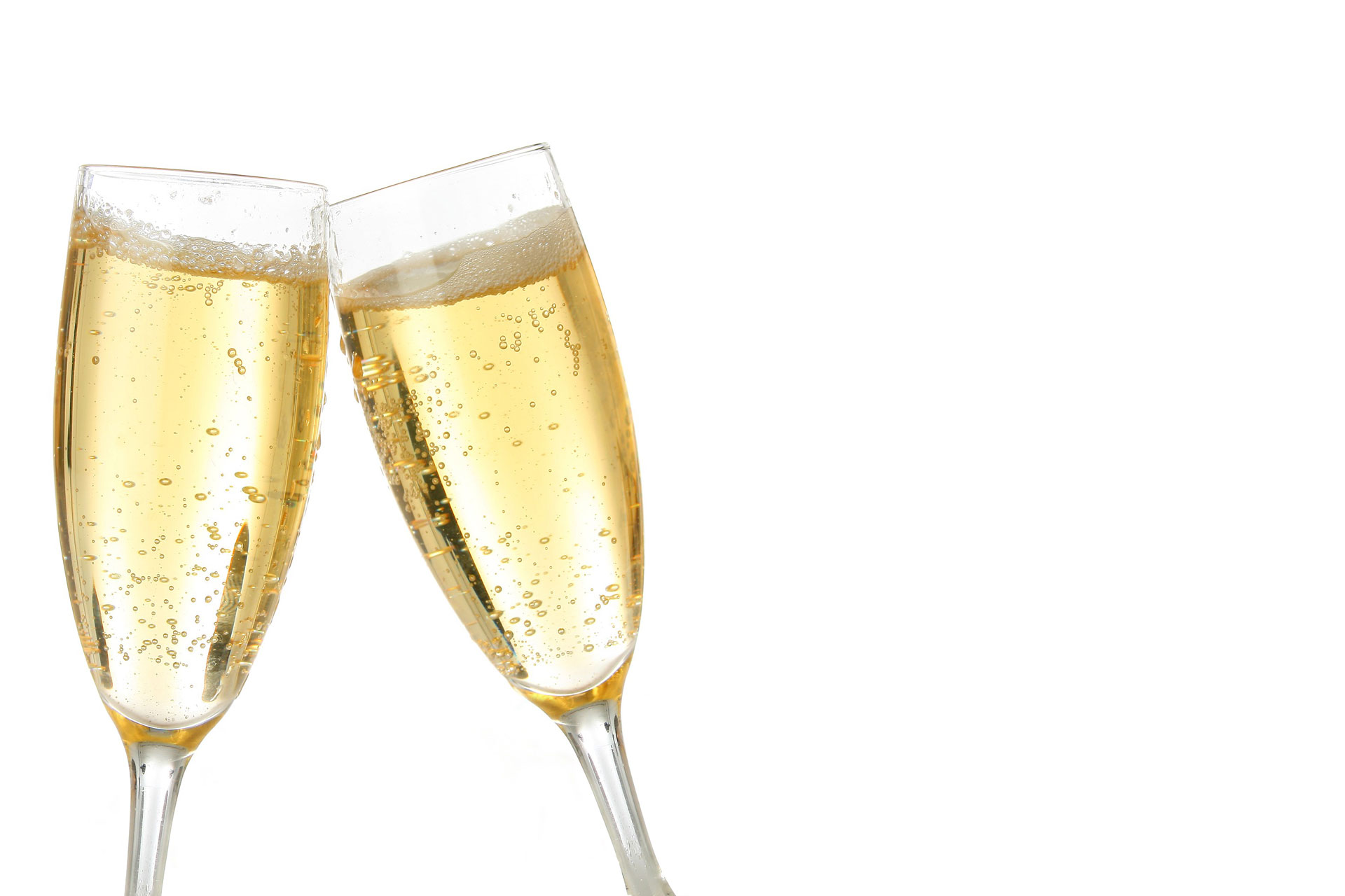 2 Champagne Flute Tops
